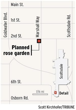 Scottsdale rose garden will be transplanted