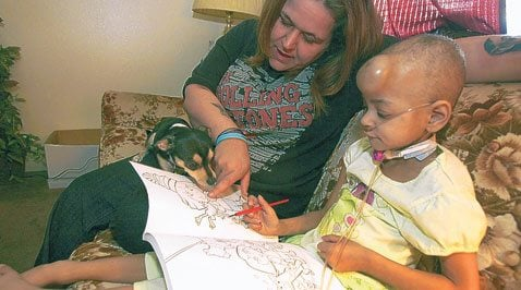 Rescued dog helps Mesa girl deal with cancer