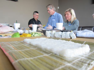 Blue Wasabi sushi-making class