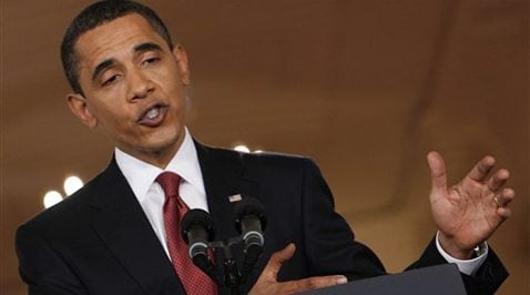 Obama claims progress with economic chaos 