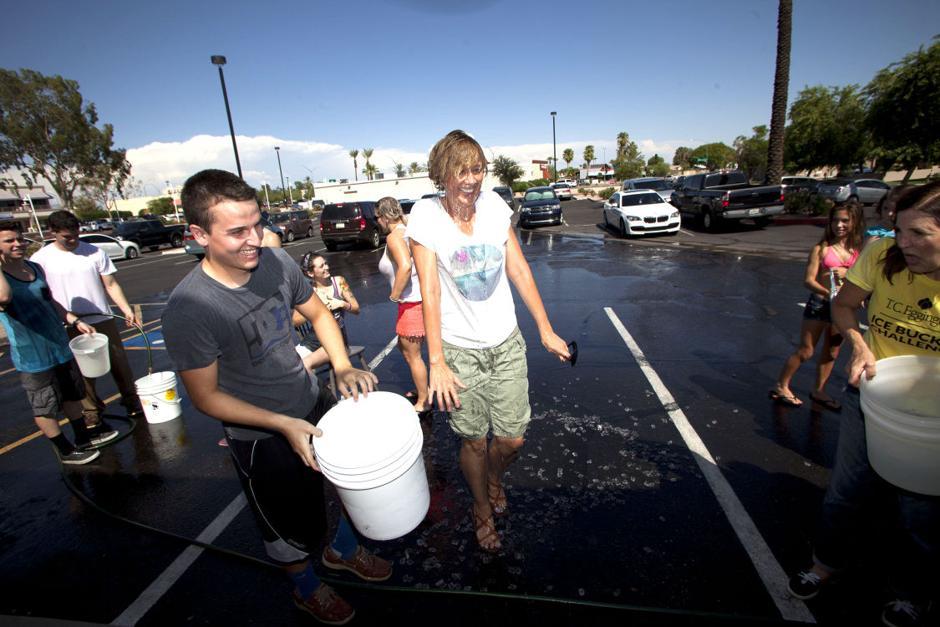 Ice Bucket Challenge at T.C. Eggington's