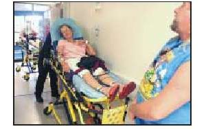 Ambulances stalled at emergency rooms