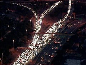 Traffic back-up on I-10 after pedestrian killed near Phoenix