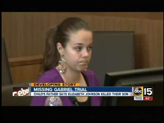 Elizabeth Johnson breaks down during trial
