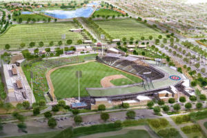 <p>The Chicago Cubs are projected to open their new 15,000-seat facility on a 125-acre site near the Loop 202 and Loop 101 freeways in Mesa in time for the 2014 Cactus League slate. [Courtesy City of Mesa]</p>
