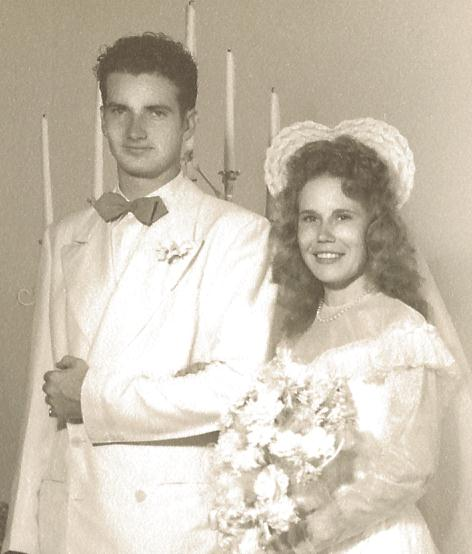 Glenn and Ila McCollum Wedding Day, July 29 1947
