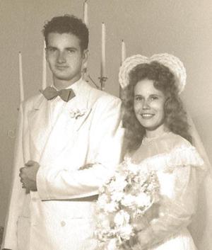 Glenn and Ila McCollum Wedding Day, July 29 1947