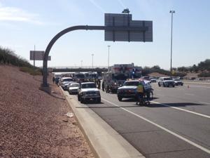 Crash at US 60 and Gilbert Road
