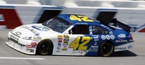 Montoya captures first NASCAR pole, edging Biffle