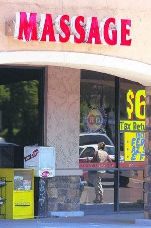 illegal massage parlours Tempe, Arizona