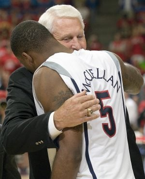 Olson makes appearance at final home game to honor seniors