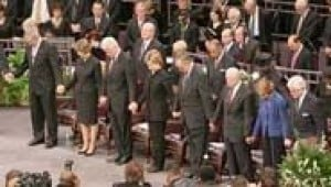 Four presidents join mourners at King funeral