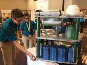 Chandler students at Aerospace Challenge