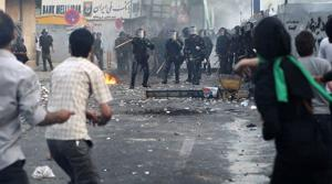 Iranian police use force to break up protest