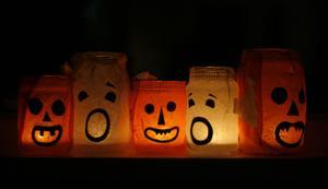spooky halloween faces