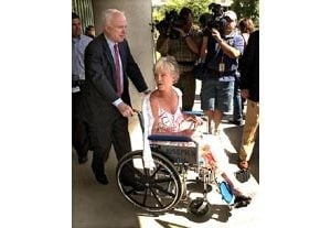 Wife of Sen. McCain leaves hospital after stroke
