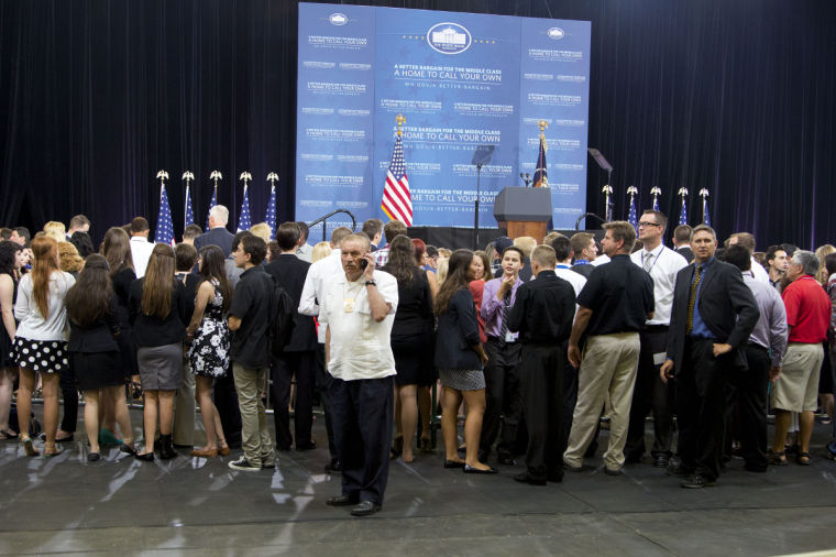 President Barack Obama speaks at Desert Vista High School