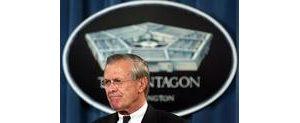 Rumsfeld will stay in cabinet, Bush says