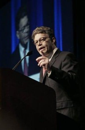 Franken tries the switch from comic to Congress
