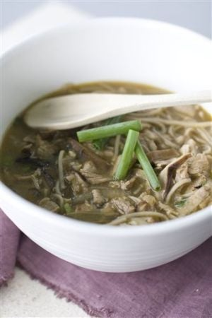 Food Shiitake Noodle Soup