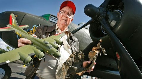 Mesa man reunited with parts of downed warplane