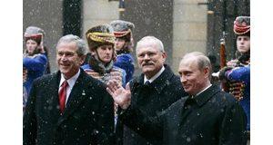 Bush, Putin agree on nukes, not democracy