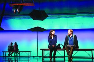 <p>Idina Menzel as Elizabeth and Anthony Rapp as Lucas in <em>IF/THEN.</em></p>
