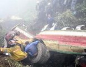 Bus plunges off Guatemala cliff; 34 dead