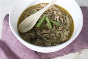Food Shiitake Noodle Soup