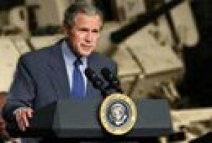 Bush pushes $500 billion tax cut plan in California