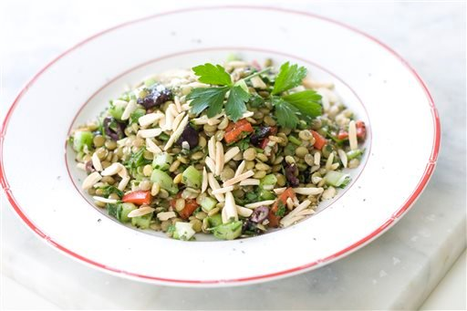 Food Healthy Lentil Tabbouleh