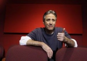 Jon Stewart flexes his funny bone fast as host of the Academy Awards