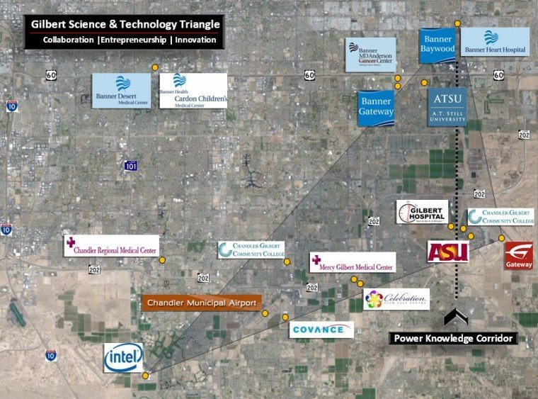 Gilbert science and technology triangle