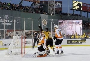 Bruins top Flyers in OT at Fenway Park
