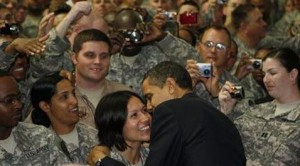 Obama in Baghdad, tells troops Iraq must take over