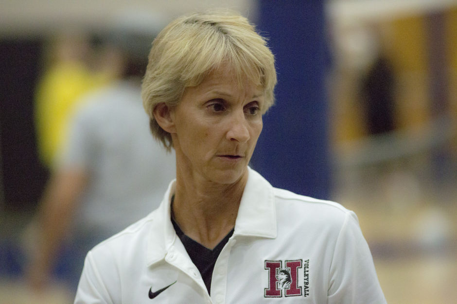 Hamilton volleyball coach Sharon Vanis