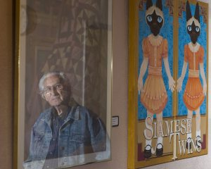 Two generations of artists display works