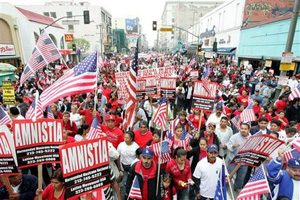 L.A. marchers demand immigration rights