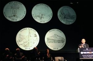 U.S. Mint unveils new quarters for national parks
