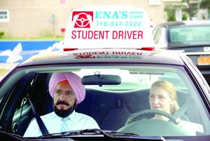 <p>Darwan (Ben Kingsley) teaches Wendy (Patricia Clarkson) how to drive in this Broad Green Pictures' film <em>Learning to Drive</em>.</p>