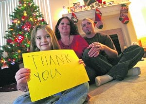 Trib readers pass spirit of Christmas to family