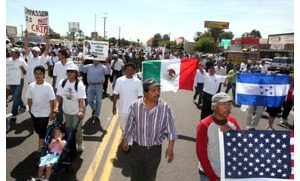 Thousands protest immigration reform plans