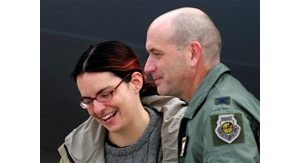 Freed U.S. journalist lands in Germany