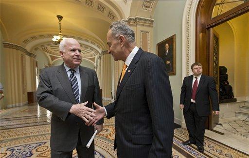 John McCain, Charles Schumer