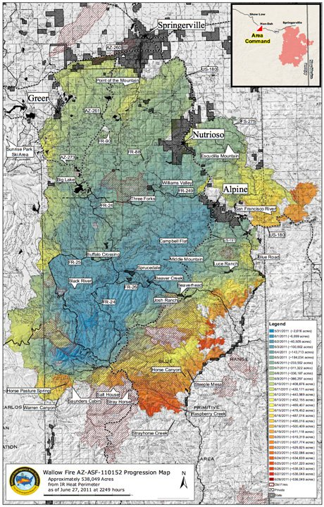 Wallow fire map