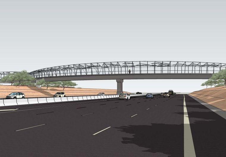 Rendering of Loop 101 pedestrian bridge