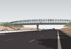 Rendering of Loop 101 pedestrian bridge