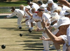 In focus: Lawn bowlers play a green contest of inches at Leisure World 