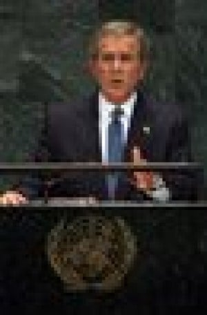Bush challenges U.N. to back Iraq plan