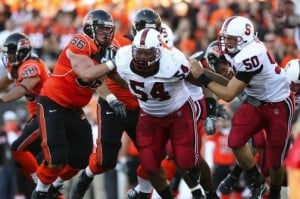Stanford's Udofia keying turnaround on defense